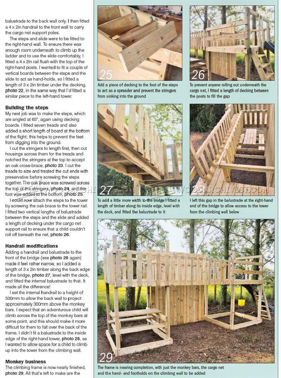 2232 Kids Climbing Frame Plans - Children\'s Outdoor Plans | Kids ...