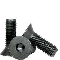 #8 #10 Flat Head Hex Socket Cap Screws Alloy Steel Black