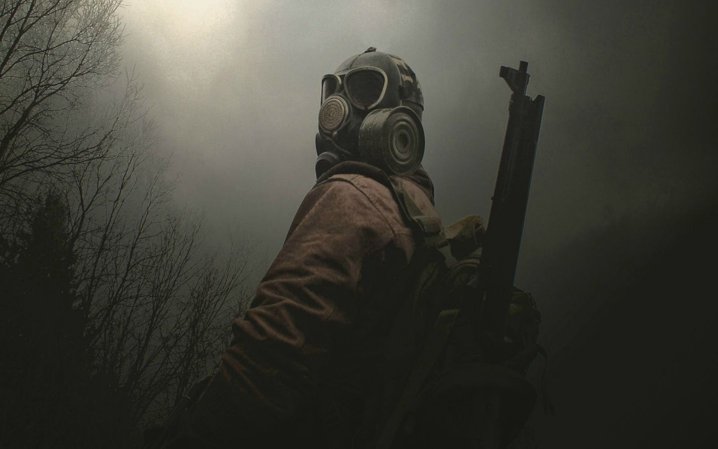 1440x900 High Res Wallpaper: Download 1440x900 Dark Gas Mask Wallpaper/Background ID