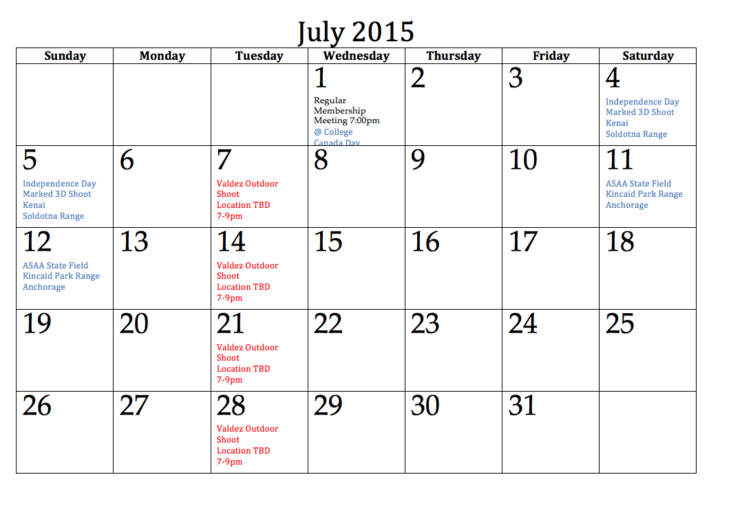 excel 2015 calendar with holidays