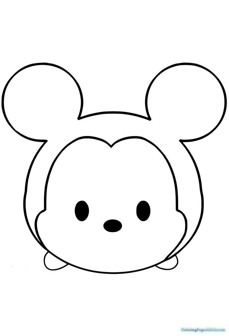 Cute Tsum Tsum Coloring Pages PDF - Coloringfolder.com  Emoji