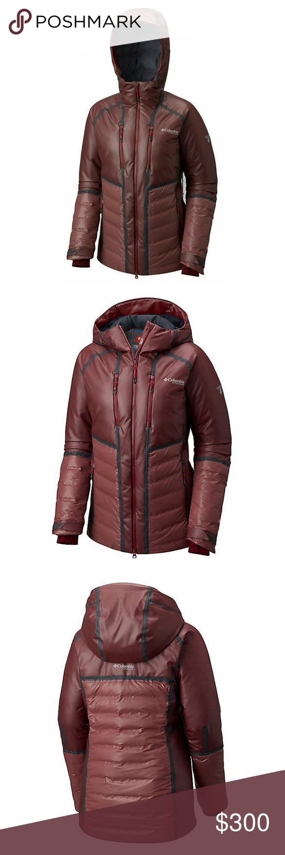 Nwt Womens Columbia Outdry Ex Diamond Piste Jacket Size M Dark Wine Outdry Extreme Waterproof Breathable Fully Seam Sealed Omni Heat Jackets Columbia Women