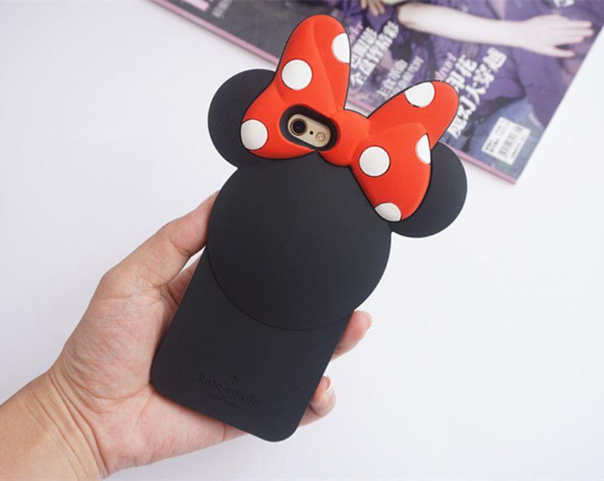 ディズニー kate spadeミニー可愛いiphone7/6sケース シリコン製アイフォン7 Plus/6plus携帯カバー