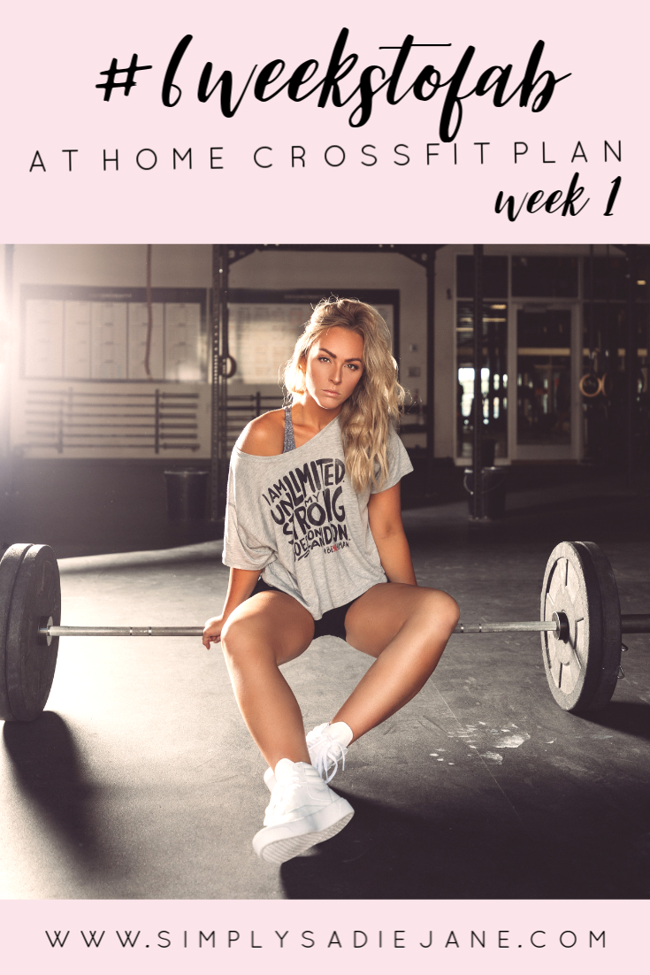 6 WEEK AT-HOME CROSSFIT INSPIRED WORKOUTS: WEEK 1 {Fitness} #AtHome #CrossFit #Fitness #Inspired