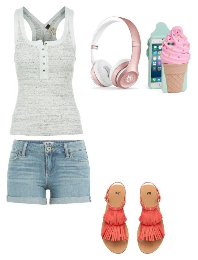 """Cute summer outfit"" by fungiral on Polyvore featuring Free People, Beats by Dr. Dre, Kate Spade and Paige Denim"