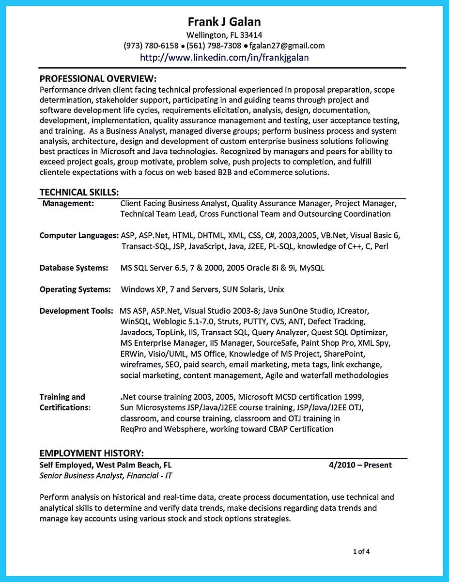Quality Analyst Resume Do You Think Getting The Business Analyst Job Is Easy Getting