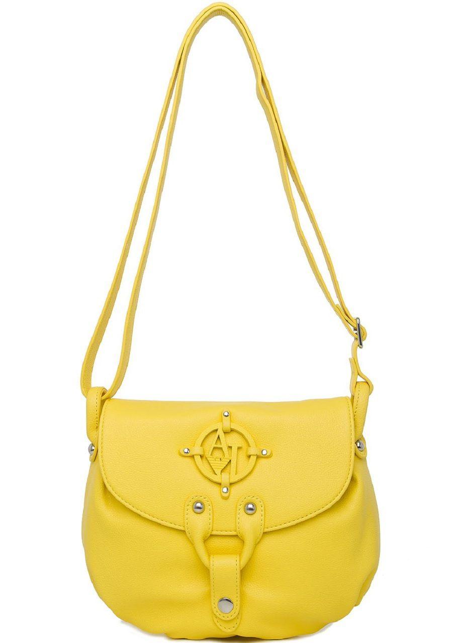 Armani Jeans Ladies Cross Body Bag In Yellow - Grabells  40212888f36ad