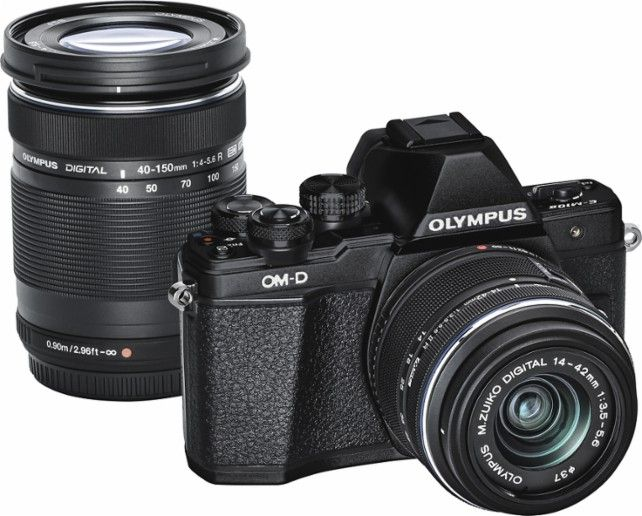 Olympus Om D E M10 Mark Ii Mirrorless Camera With 14 42mm And 40 150mm Lenses Black Front Zoom 799 Bes Best Digital Camera Digital Camera Olympus Camera