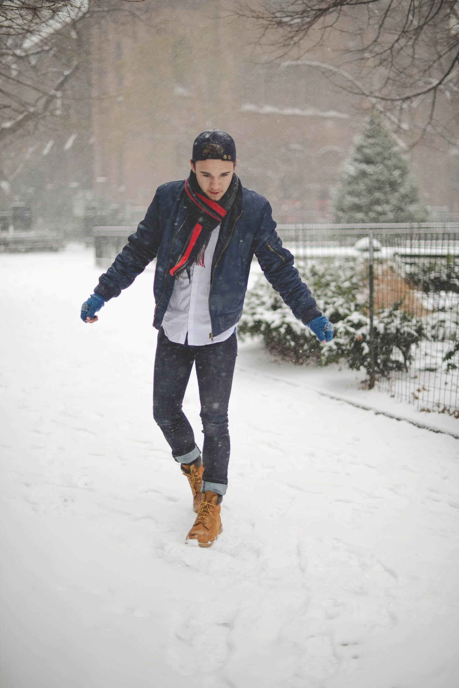 Casual Snow-Day Outfit | Mens winter fashion outfits, Mens ...
