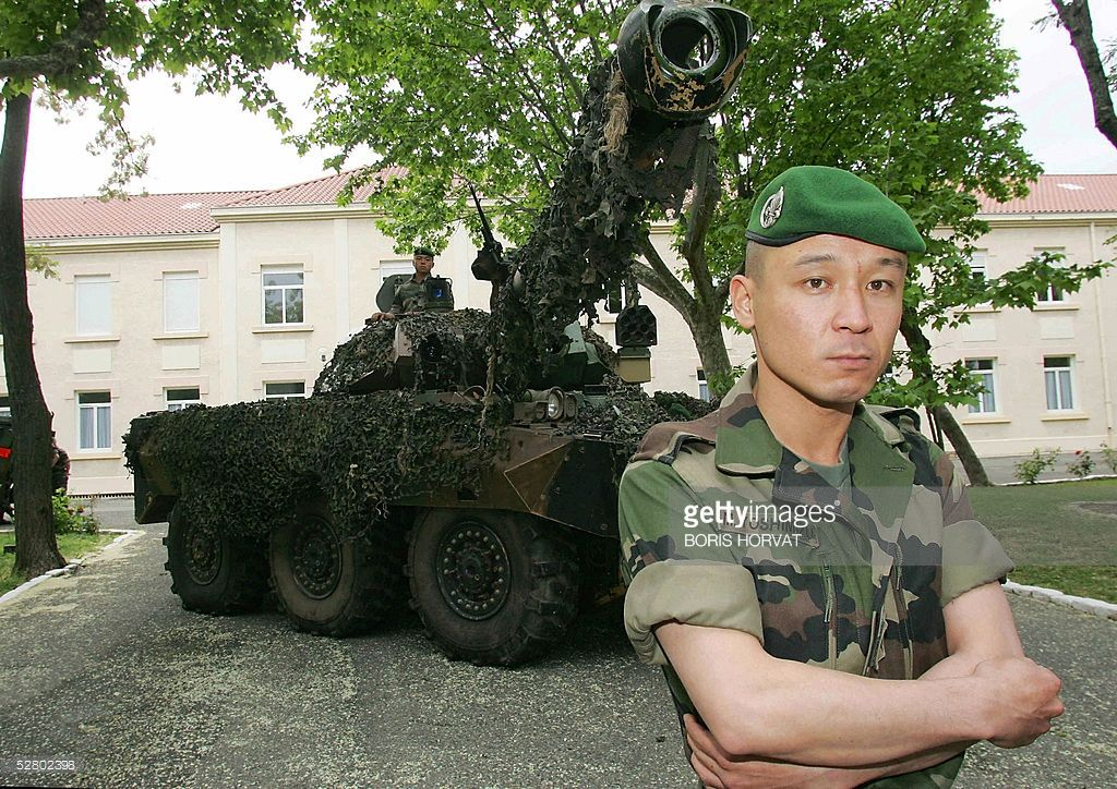 Japanese Misio Yoshimizu, sergeant of the French foreign