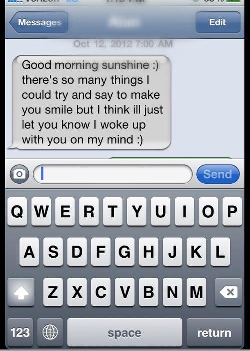 good morning sunshine text message