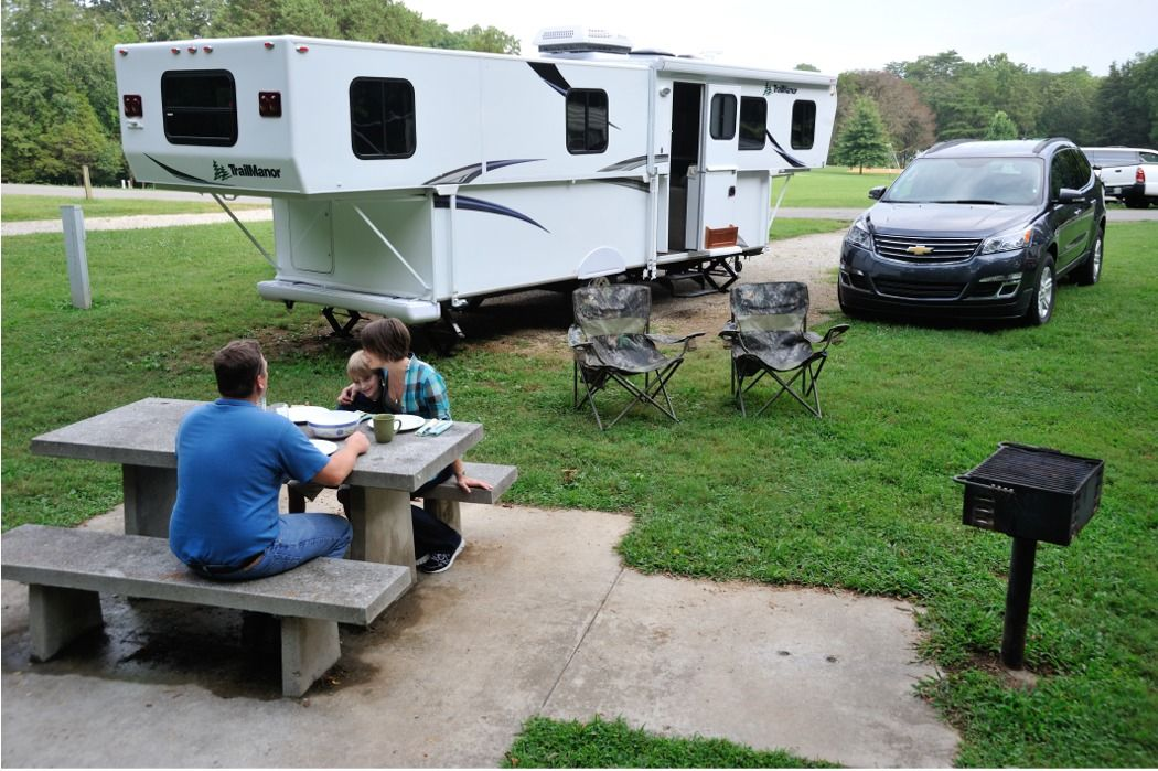 Exterior Trail Manor Popup 2922 Series On The Road Dreaming Rv
