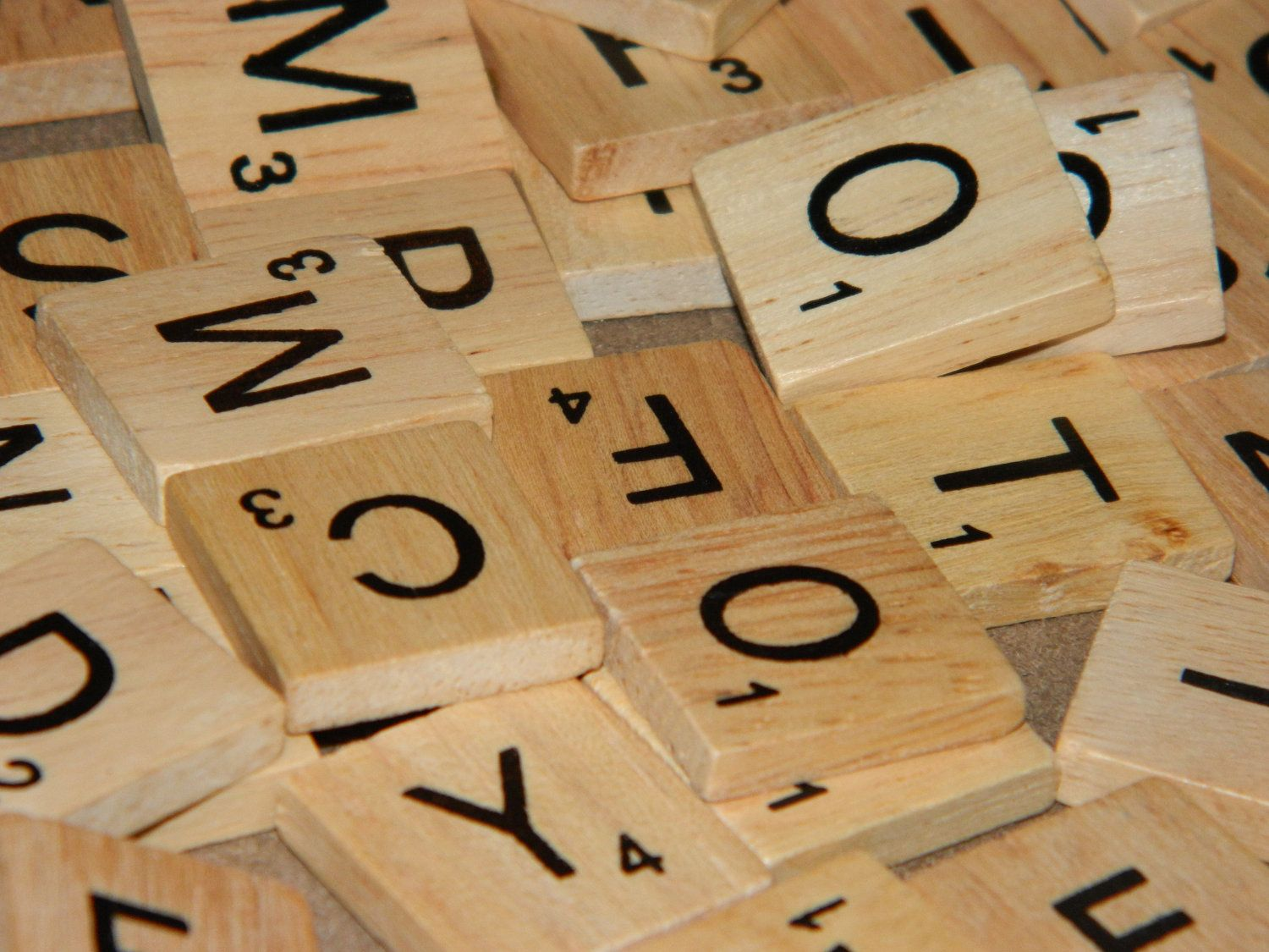 Individual Scrabble-Like Tiles Letters - Unlimited Quantities Available - $0.25, via Etsy.