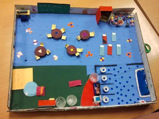 Maqueta d'una aula