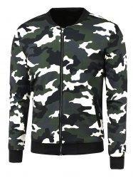 #Gamiss - #Gamiss Zip Up Camouflage Printed Jacket - AdoreWe.com