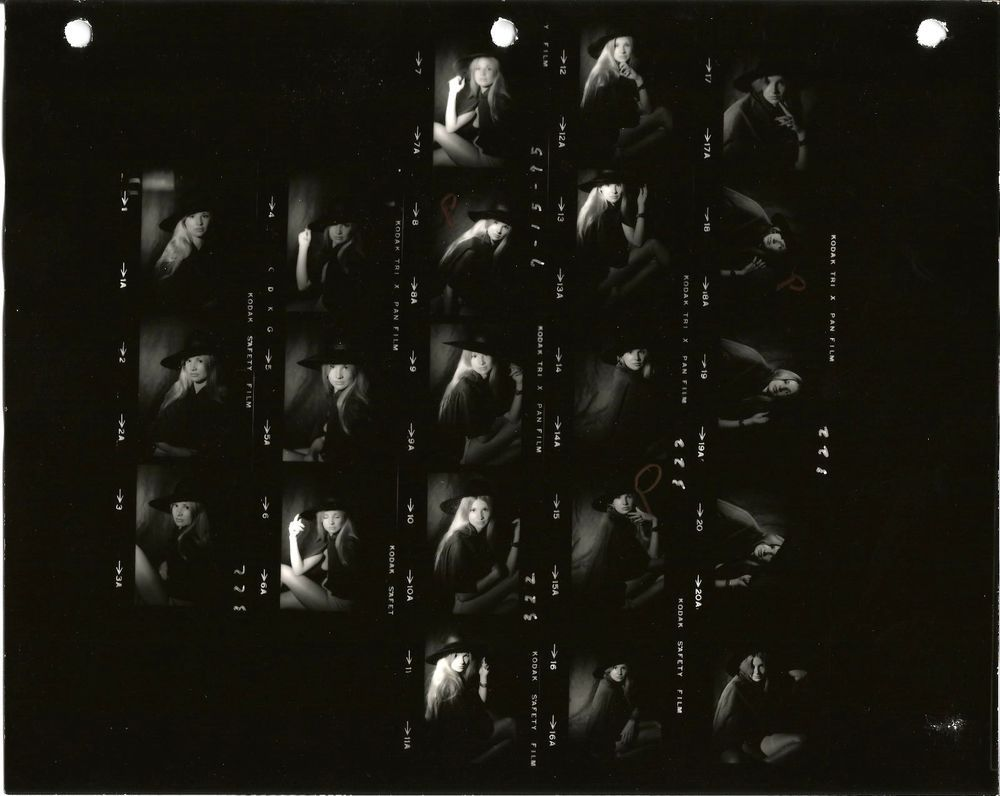1975 tall va. beach redhead amateur model 2 // 4 contact sheets