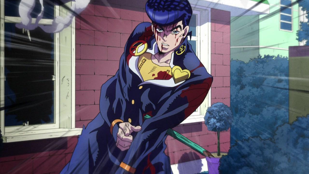 Wounded Josuke Confronts Kira Jojo Bizzare Adventure Jojo Bizarre Jojo Memes