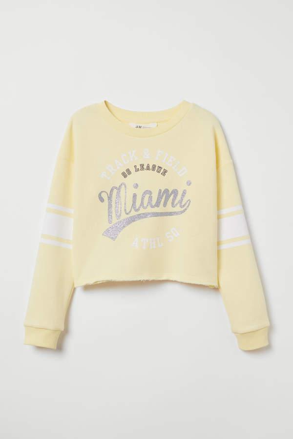 49e4b98c4c635f H M Sweatshirt with Printed Design - Yellow in 2019