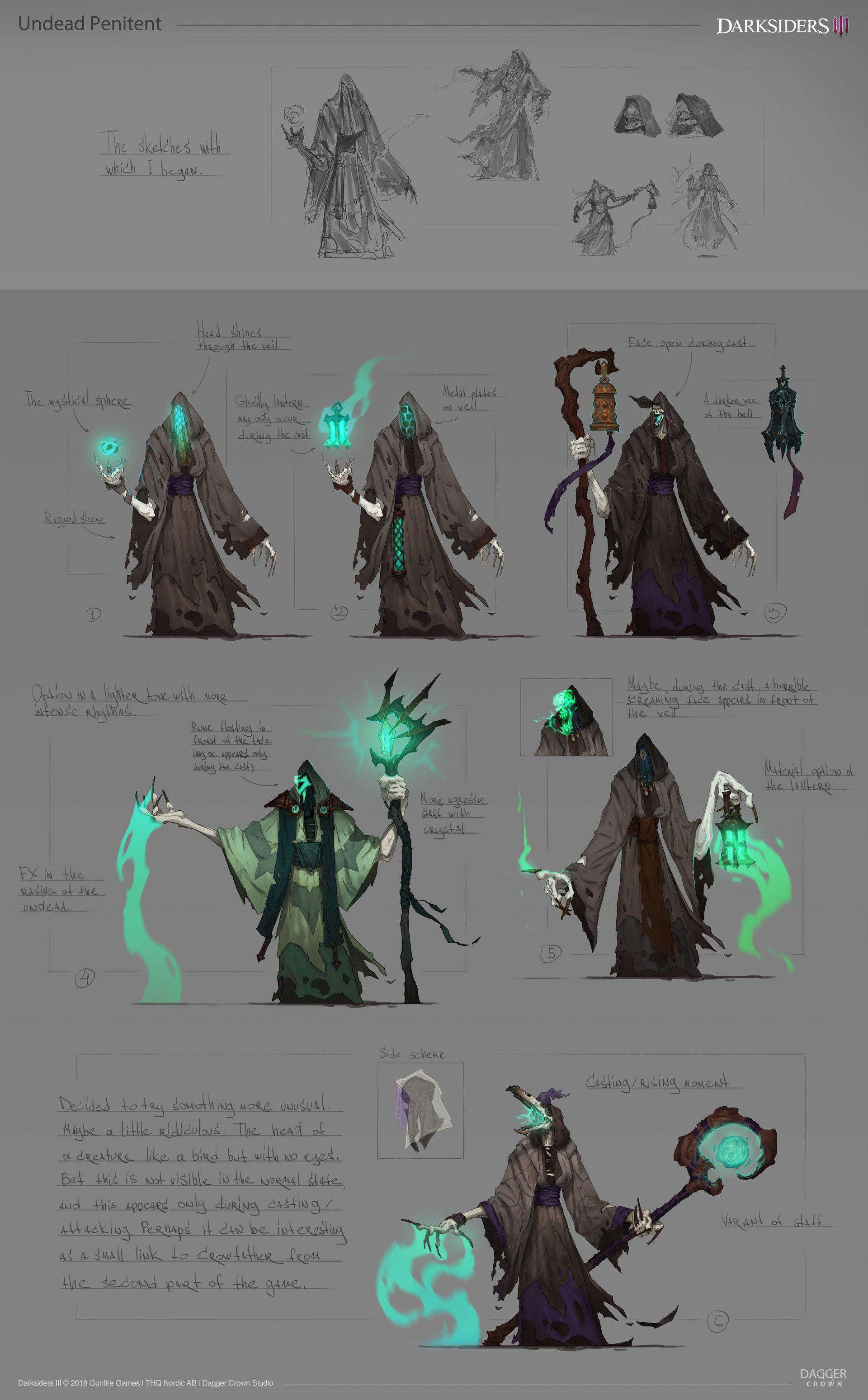 ArtStation - Darksiders 3 |Phantom Guard Task Master, DAGGER CROWN