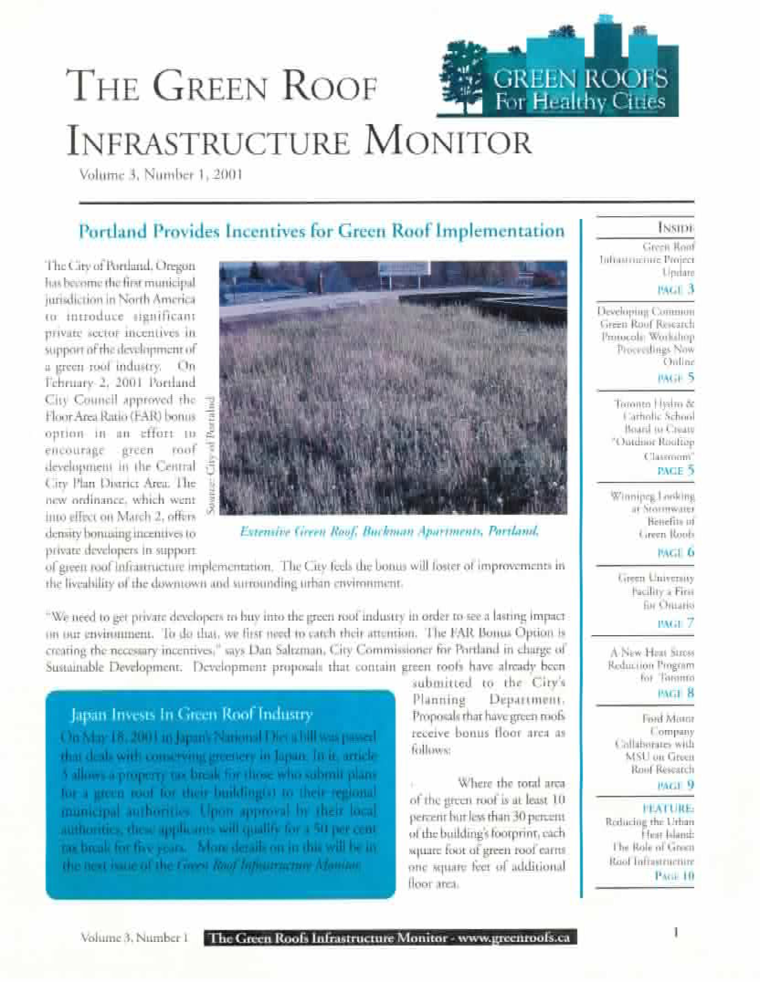 Vol 3 No 1 The Green Roof Infrastructure Monitor Architecture Eco Ecotecture Nature Green Sustainable Green Architecture Urban Agriculture Urban Farming