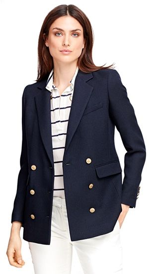 53ede92a Brooks Brothers Wool Double-Breasted Blazer in navy with gold buttons (Balmain  inspired)