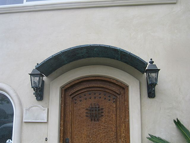 Copper Front Door Awning | Metal Awnings, Copper Awnings ...