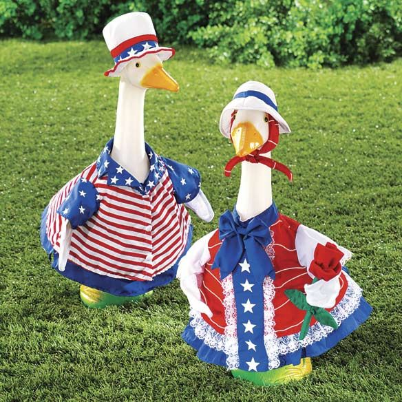 Patriotic Geese Outfits 4th Of July The Old Lady In Me Wants