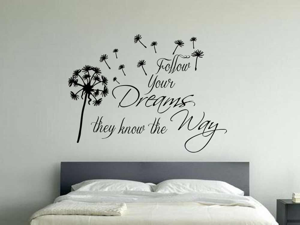 Inspirational Wall Sticker Quote Follow Your Dreams With Etsy