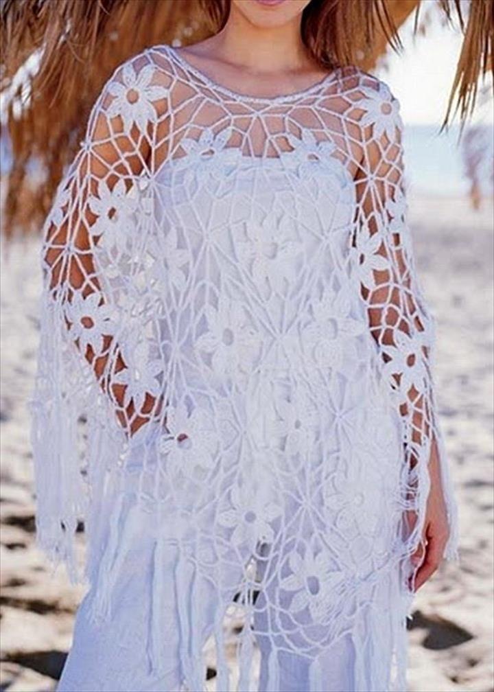 24 Adorable Summer Poncho Free Crochet Design | Häkelmuster ...