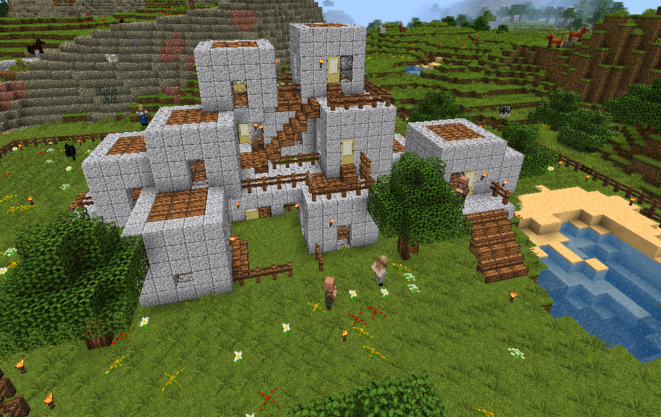 Hi  am shaunmarie in minecraft built this on our family server also how to build  farm house my rh pinterest