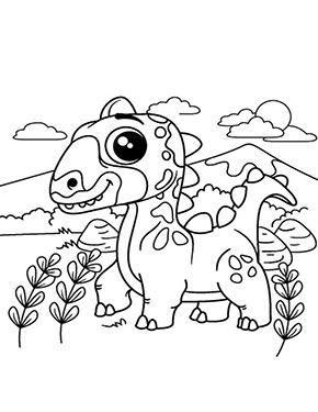 Ausmalbild Dinosaurier Kind in 2020 | Malvorlagen tiere ...