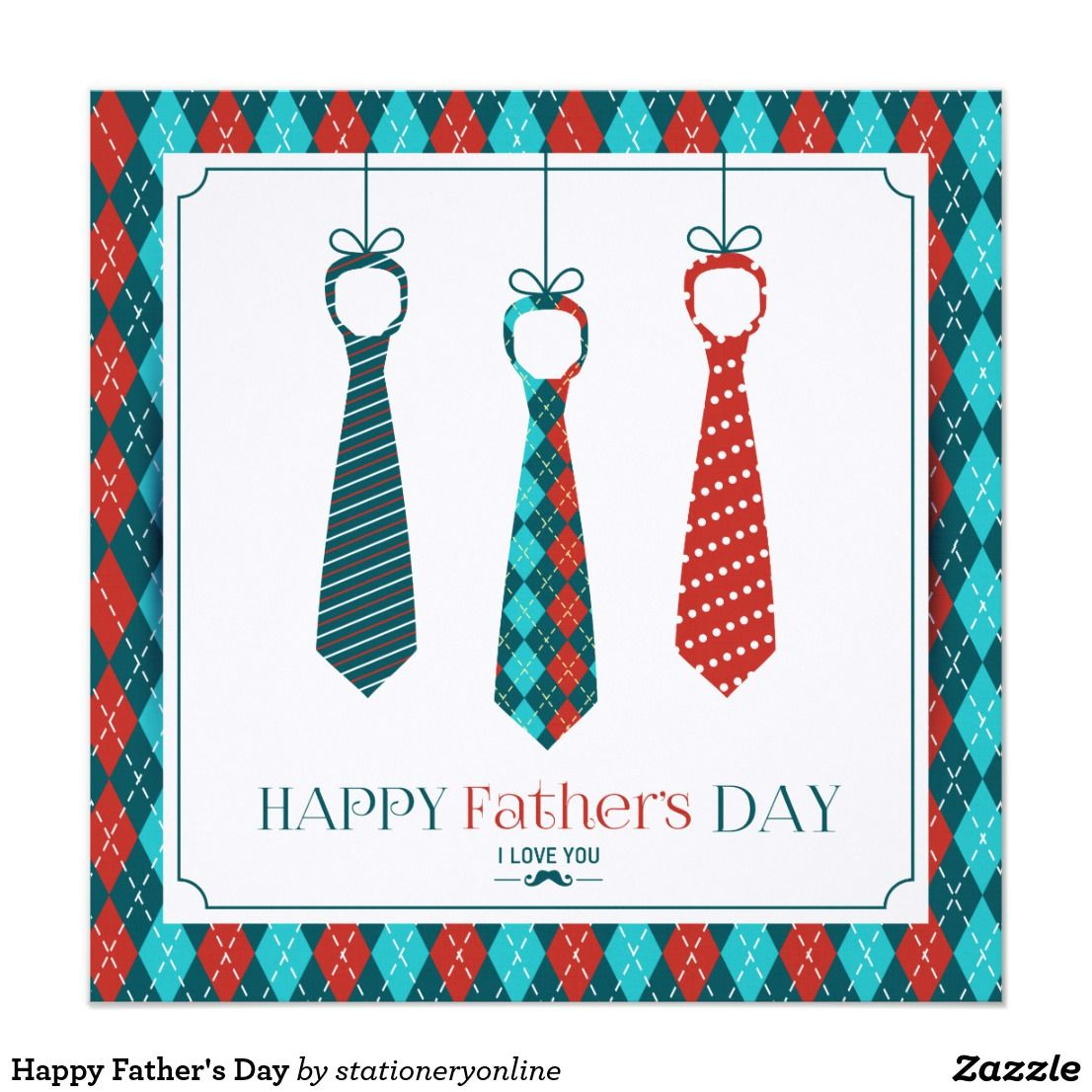 Happy Father's Day Card Happy fathers day, Custom