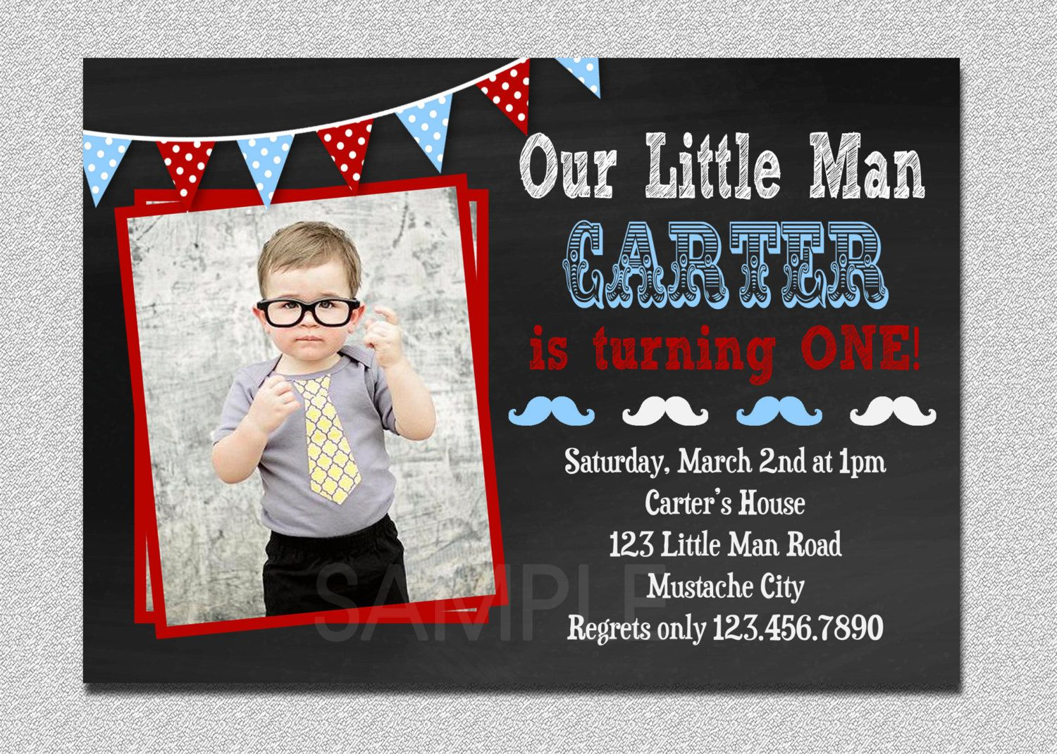 little man birthday invitation little man mustache 1st birthday party invitation printable - Mustache Party Invitations