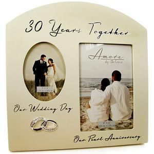 Double 30th Pearl Wedding Anniversary Photo Frame M1