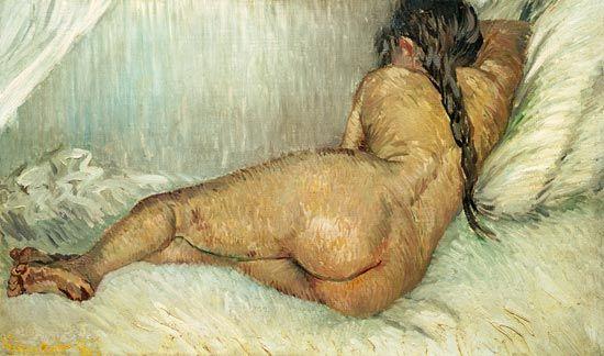 donna nuda sdraiata van gogh