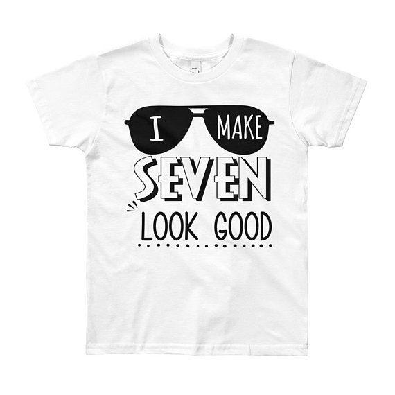 56f693c0 7th Birthday Shirt Boy Seventh Birthday Outfit, Seven Year Old Birthday Gift