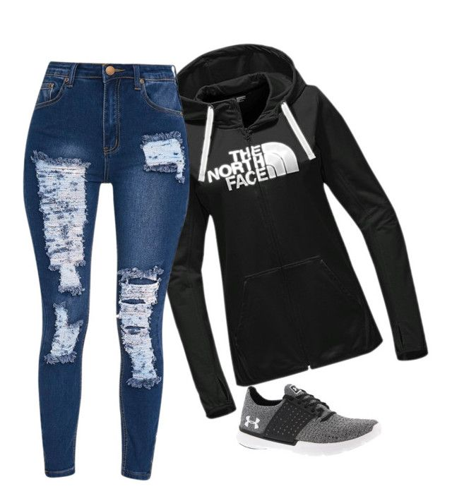 """""""School outfit"""" by robynique-patton on Polyvore featuring The North Face and Under Armour"""