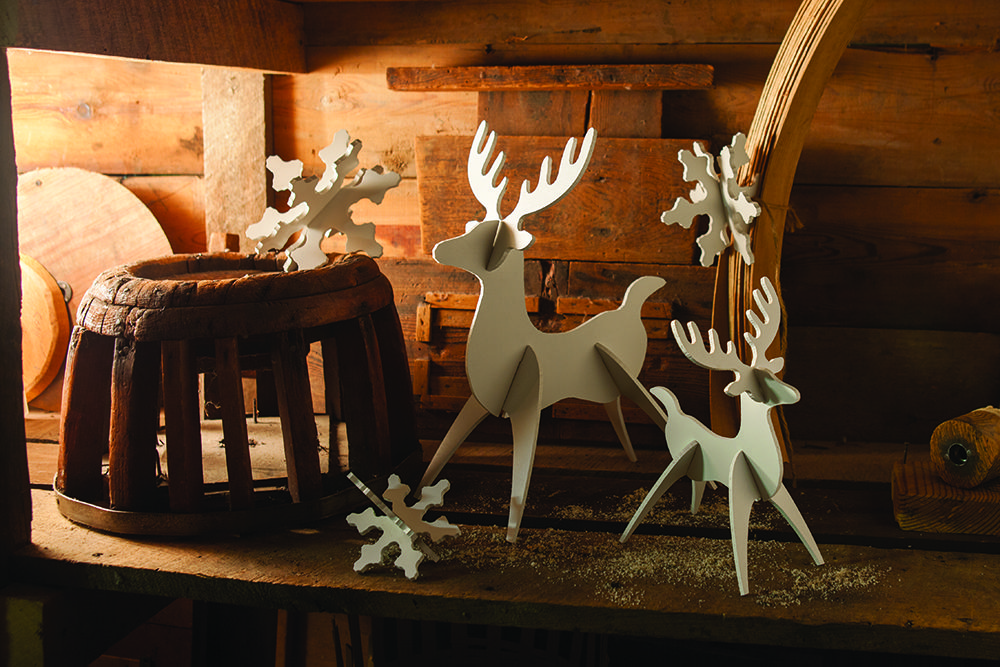 These Reindeer and Snowflakes are an adorable addition to any home for the holidays.