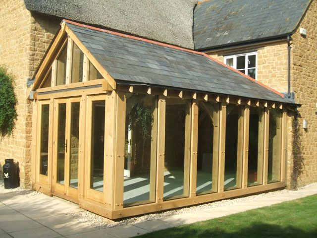 Direct glazed oak framed garden room timber pinterest for Oak framed garden room