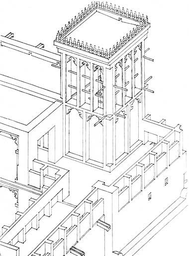 Detail Of The Isometric Drawing Of The Wind Tower Complex In 1983