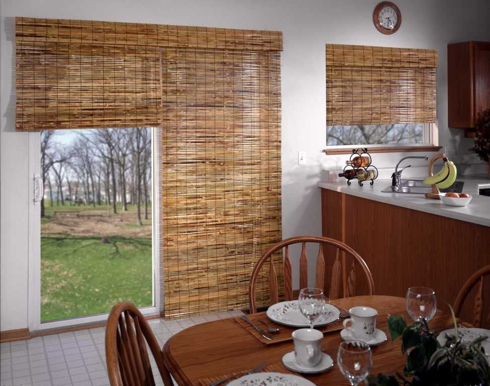 Shades Horizons Natural Woven Two On One Headrail Kitchen J