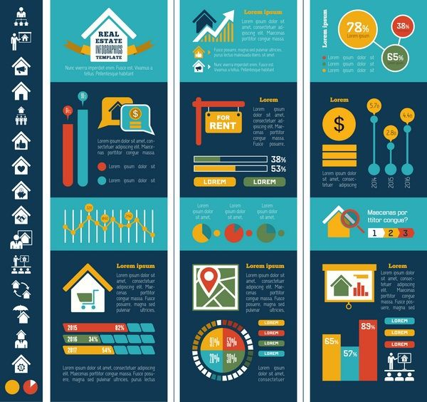 real estate infographic templates and elements on behance annual
