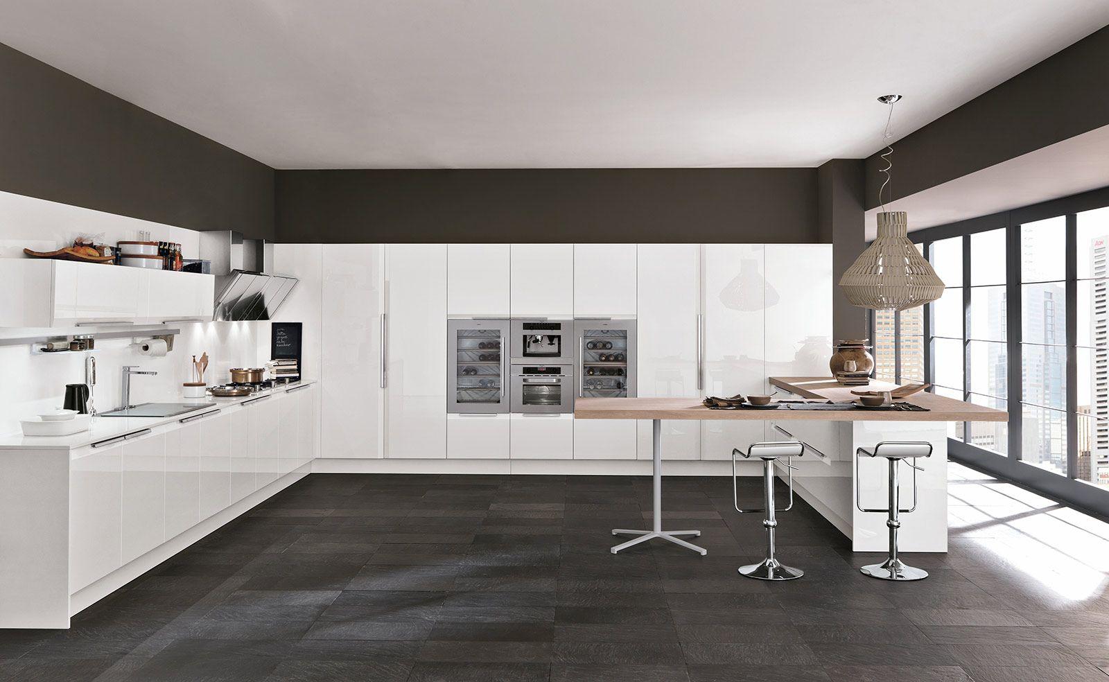 Cucina Moderna Lineare Con Dispensa | Cucina Con Parete Attrezzata