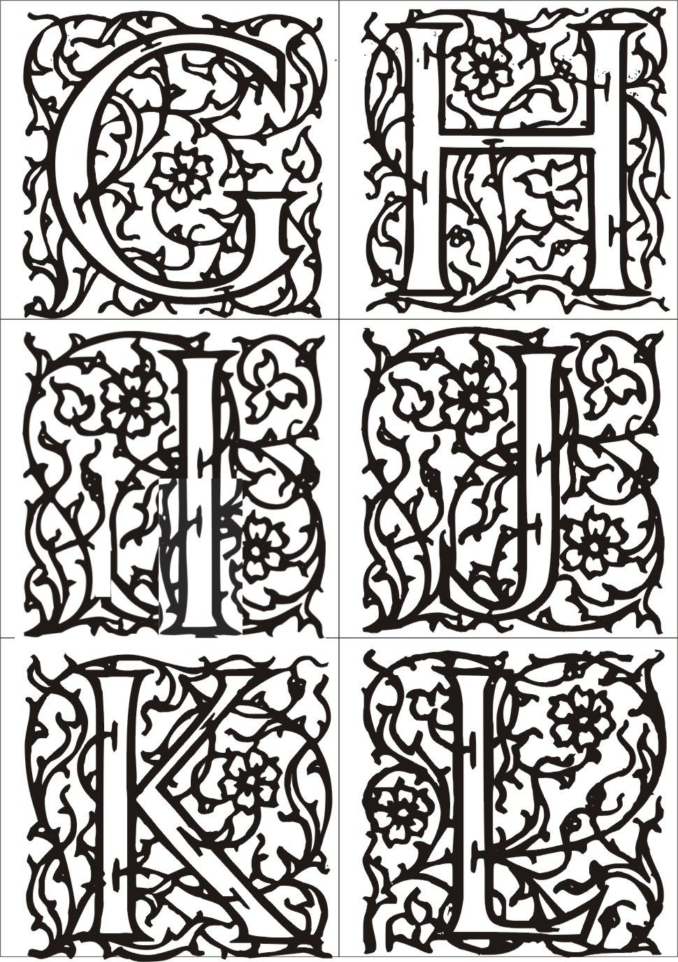 Enluminure moyen age alphabet su17 jornalagora - Dessin moyen age ...