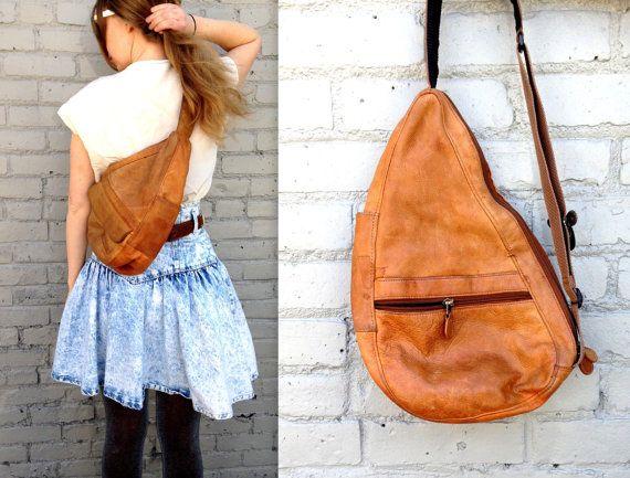 1980's LL BEAN Leather Backpack // Traveler's by KittenSurprise