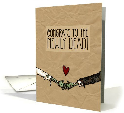 Zombie Themed Wedding Congratulations Card