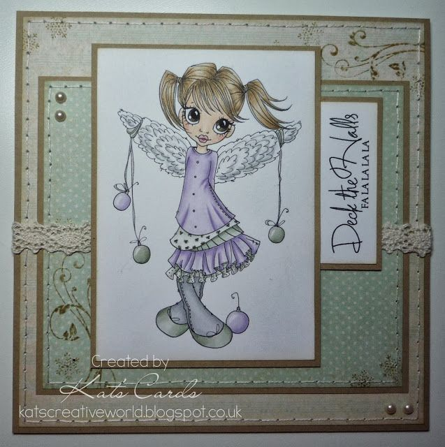 Simple Christmas card featuring Christmas Angel from Saturated