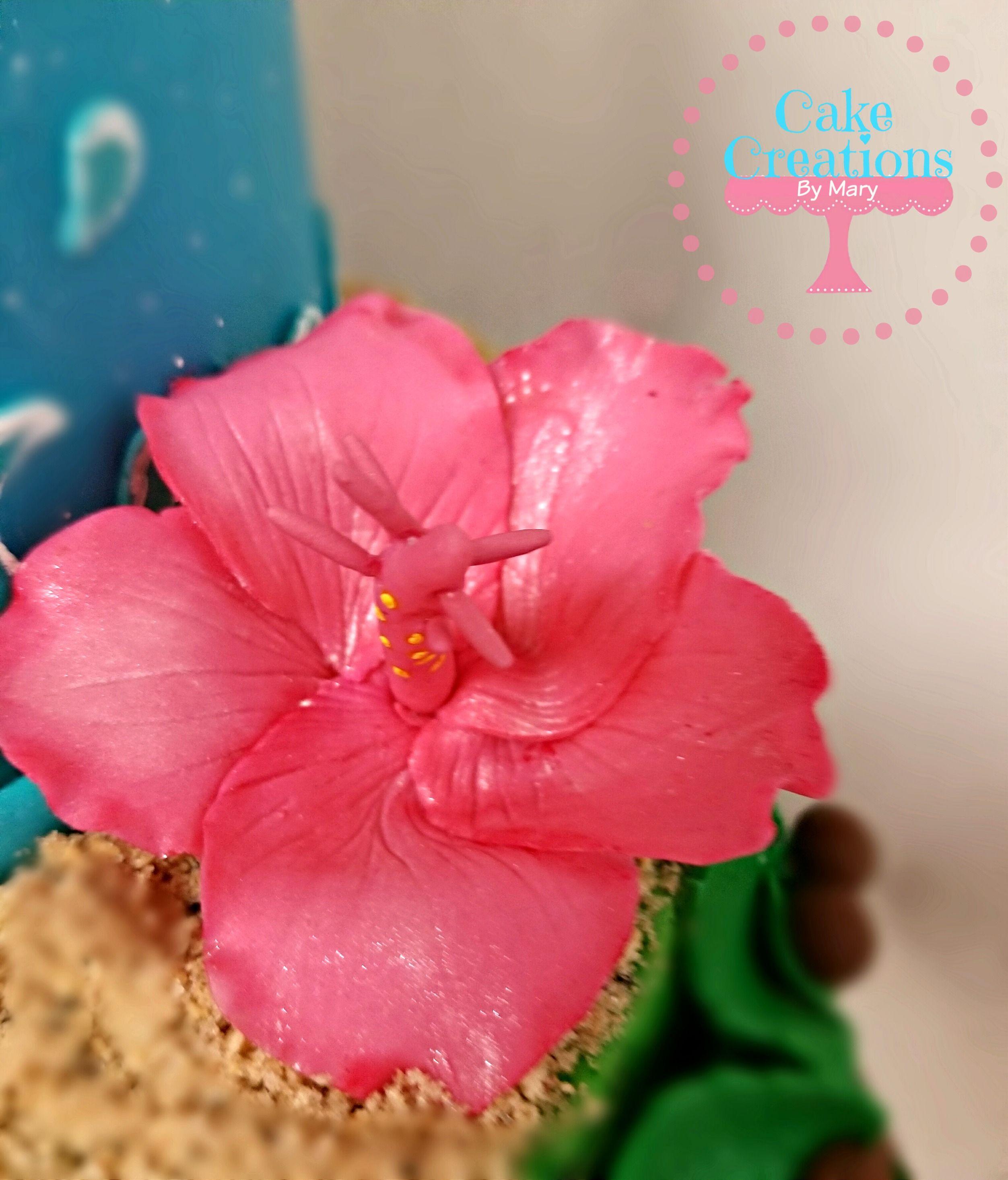Hibiscus sugar flower cake topper hochzeitstorte pinterest hibiscus sugar flower cake topper izmirmasajfo