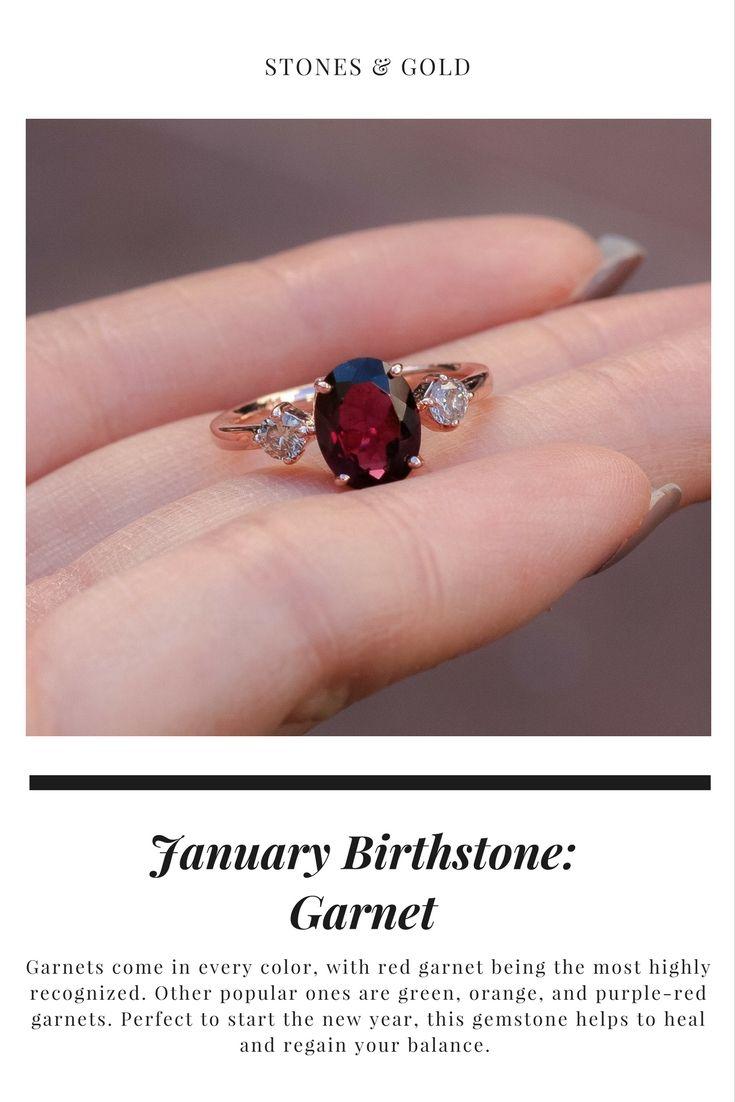 January Birthstone Jewelry ft Garnet | granate | Pinterest ...