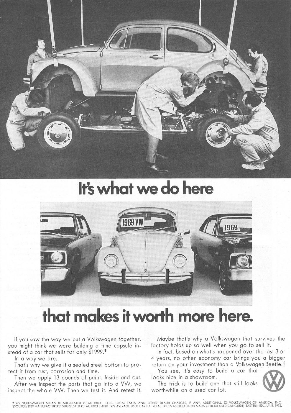 Volkswagen, VW Beetle 1972 Ad Picture | Retro Car Ads | Pinterest ...